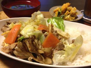 Jun05_豚肉と野菜の味噌炒め