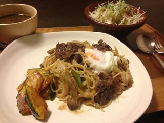 Jun13_牛肉の和風パスタ