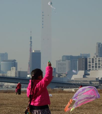 東京タワーが正面に