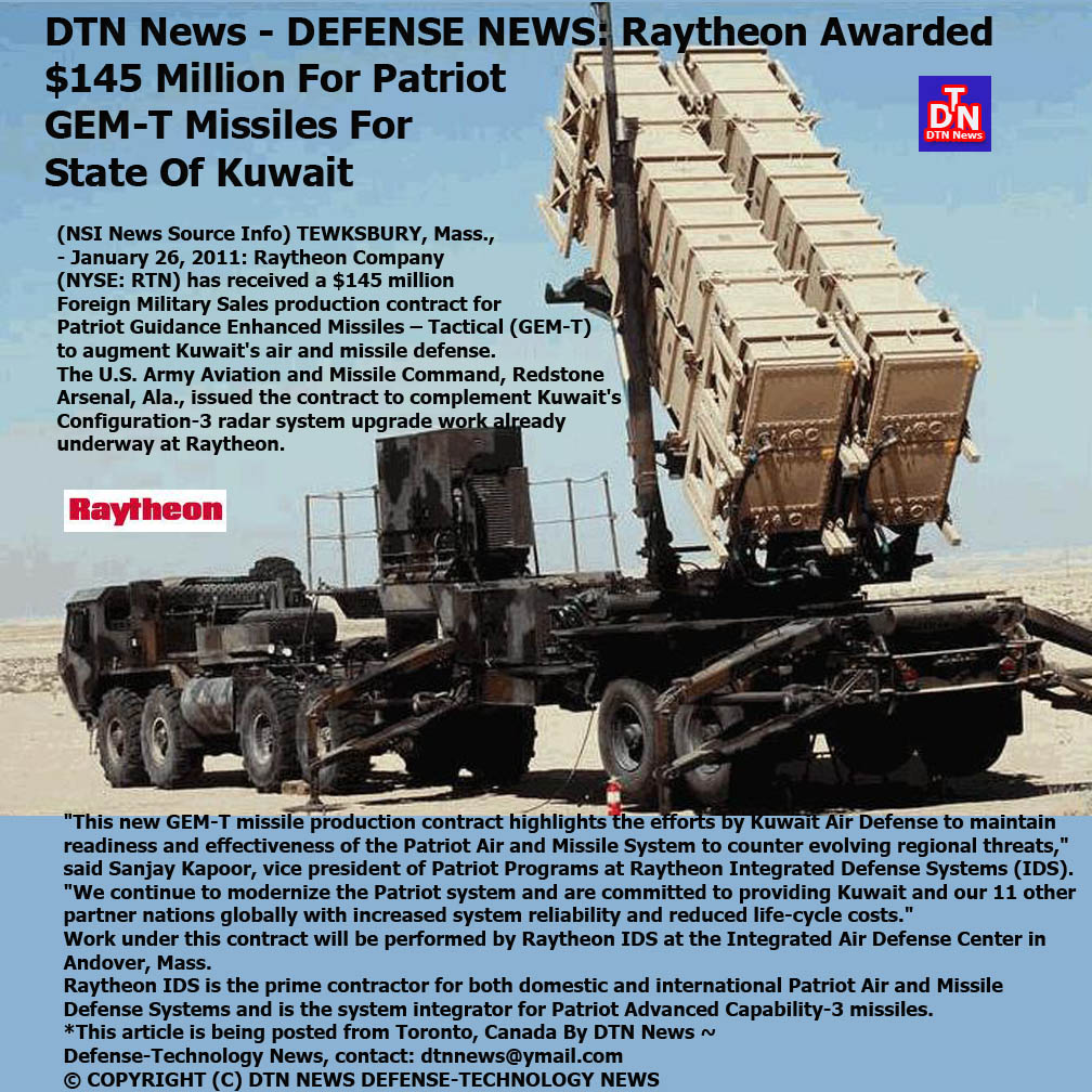 RAYTHEON PATRIOT JAN 26 2011