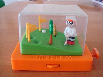 マクドナルド ハンバーグラーのゴルフゲーム