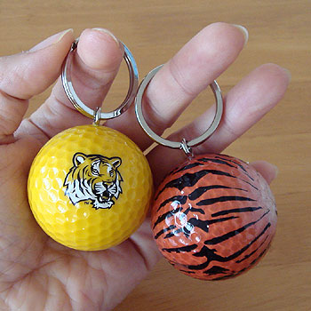 虎&タイガー柄 ゴルフボール!