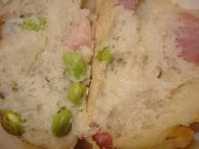 枝豆とベーコン断面