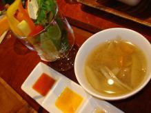 スープと野菜