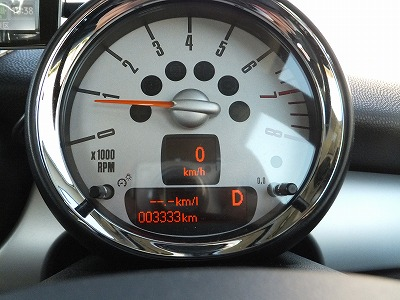 miniの3333km記念!