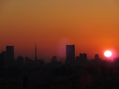 初日の出with東京タワー