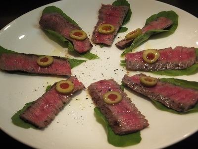 牛肉のカルパッチョ@amigos y amigas