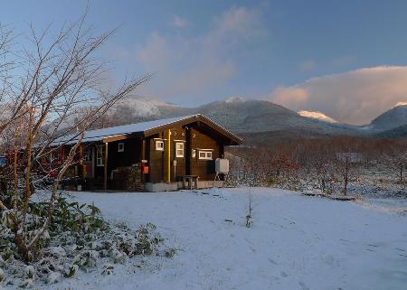 雪景色の家