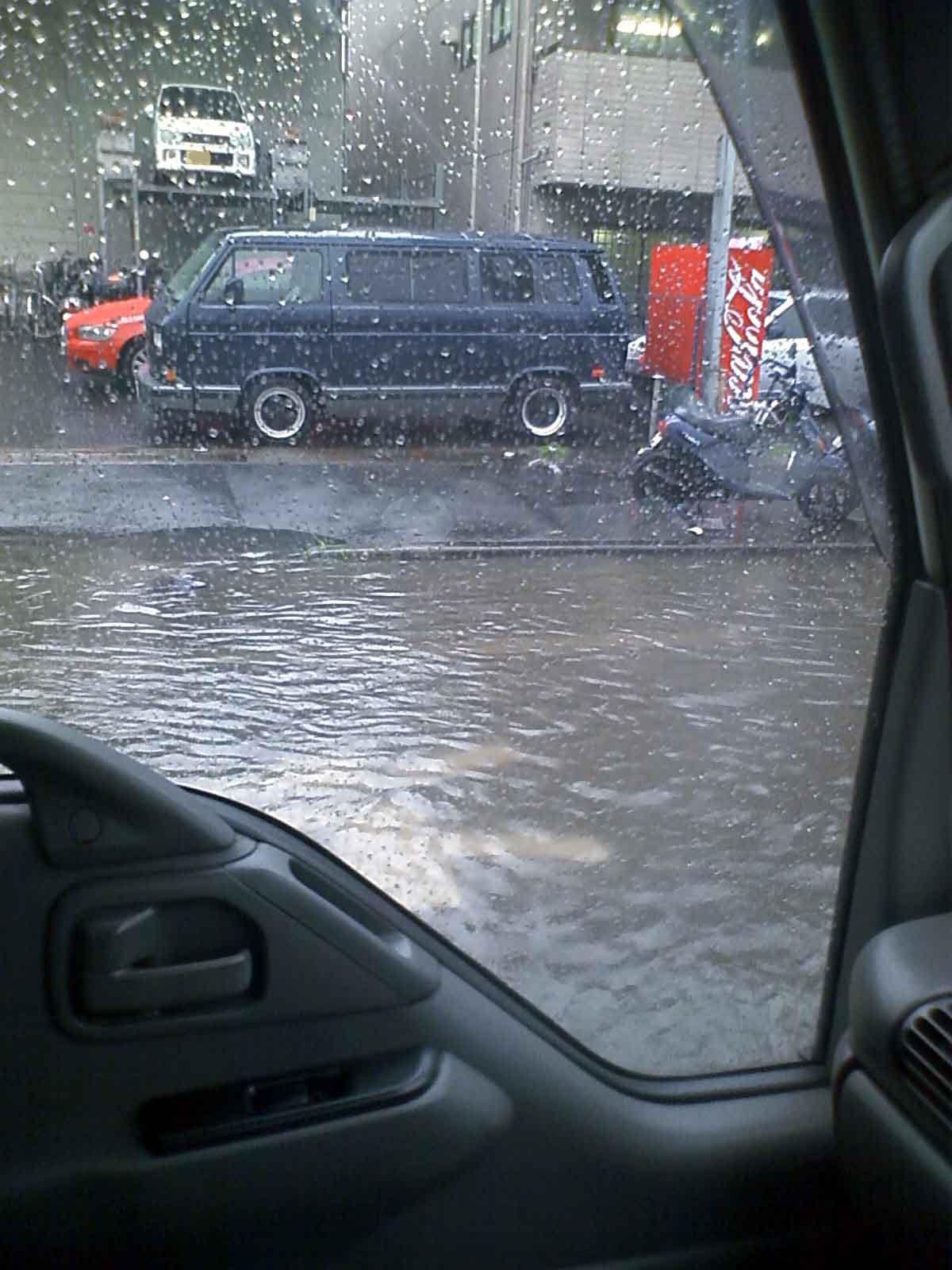 道路の冠水状態