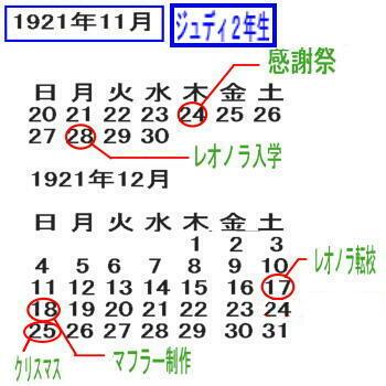 1921カレンダー