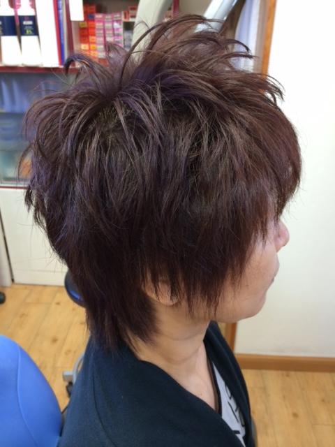 秋色 大人のドーリーカッパー系カラー 白髪を活かす白髪染め