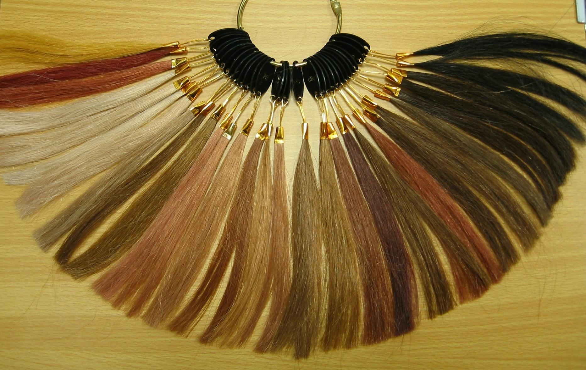 人毛エクステの豊富なカラーバリエーション