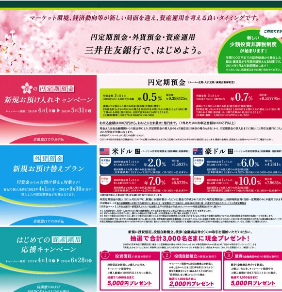 三井住友銀行 定期預金