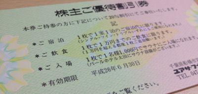 8006 ユアサ・フナショク 株主優待券