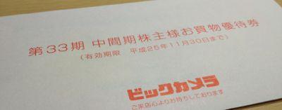 3048 ビックカメラ 株主優待券