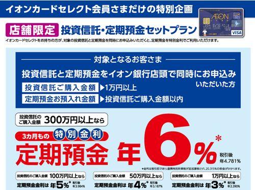 イオン銀行 6%
