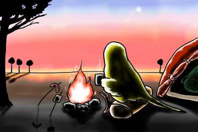 夕暮れキャンプ
