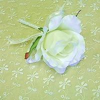ブルーの薔薇と水色ビーズのウエディングブーケ&ブートニア(アートフラワー)