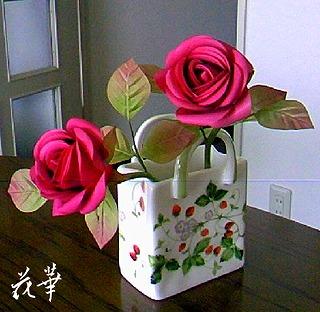 小ぶりの薔薇・お多福バラ(布花・染め花・ハンドメイド)