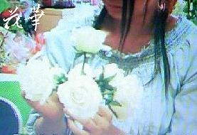 手作り・白いバラのウエディングブーケ&ブートニア(アートフラワー・上質造花)生徒さん作品