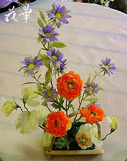 おトイレに飾る造花・アートフラワーアレンジメント