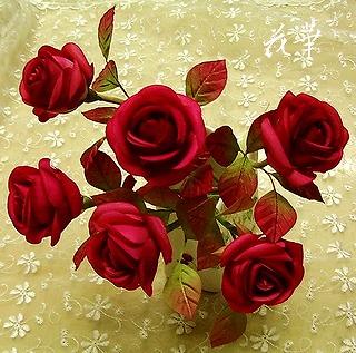 布花・染め花・お多福バラ