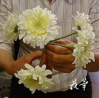 手作りののウエディングブーケ&ブートニア(アートフラワー・上質造花)生徒さん作品