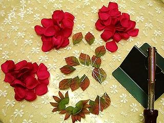 布花・薔薇の花びらのはじまり~お多福バラの染め&コテあて