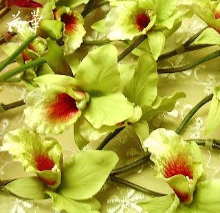アートフラワー(上質造花)のランのお花・アトリエ花華