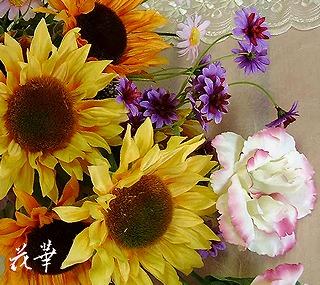 墓前に供えるアートフラワー(上質造花)