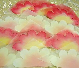 花嫁さんが身に着けるプルメリアの髪飾り(ヘッドコサージュ)制作開始・布花・ハンドメイド