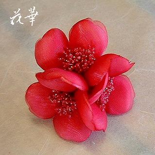布花のお花の指輪(リング)・染め花・アートフラワー