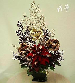 和菓子屋さんのエントランスに飾るお花(インテリアフラワー・アートフラワー・上質造花のアレンジメント)レンタル商品