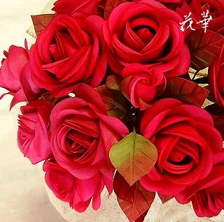 プロポーズに贈る薔薇の花束(ブーケ)~特別な日に特別な方へ贈る薔薇の花束(ブーケ)・枯れない薔薇の花束(布花・手作り)