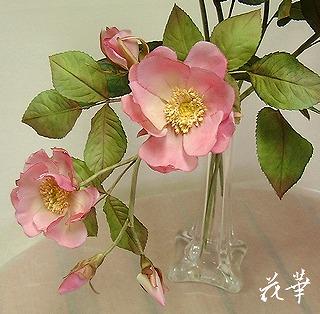 ハンドメイド・スタンダードローズと野薔薇(布花・染め花・アートフラワー)の販売を開始しました。