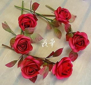 布花(染め花)のお教室ご案内((6月-7月)杉並区&小金井市~お多福バラを作ります♪