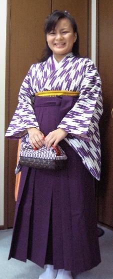 紫の矢羽と袴(着付け込み)21000円群馬県高崎市