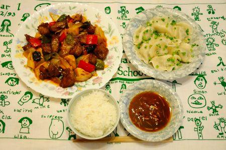 酢豚のお夕食