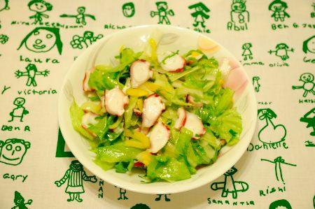 たことセロリのサラダ