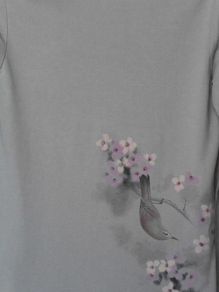 桜とウグイスTシャツ