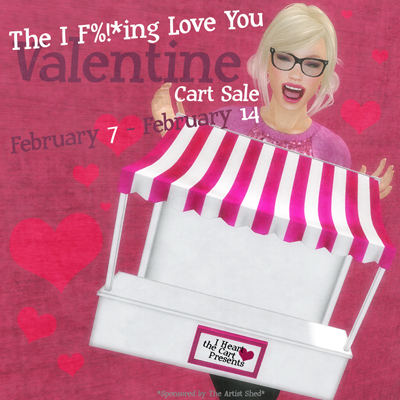 The I F%!_ing Love You Cart Sale