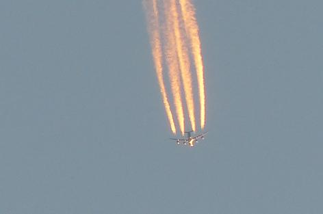 飛行機でした♪