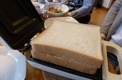 パンをのせて♪