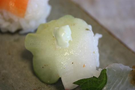 大根手まり寿司♪