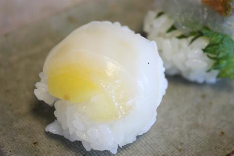 イカと生姜の手まり寿司♪