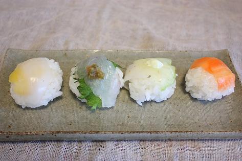 4種の手まり寿司♪