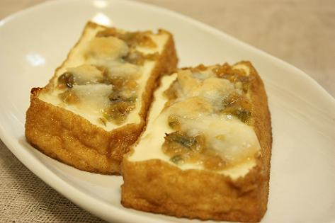 厚揚げのふき味噌チーズ焼き♪