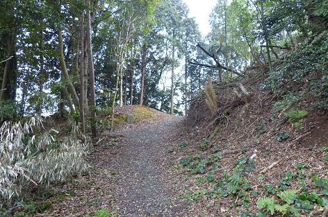山道のような丘を通り♪
