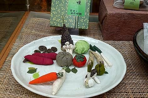 布の野菜♪