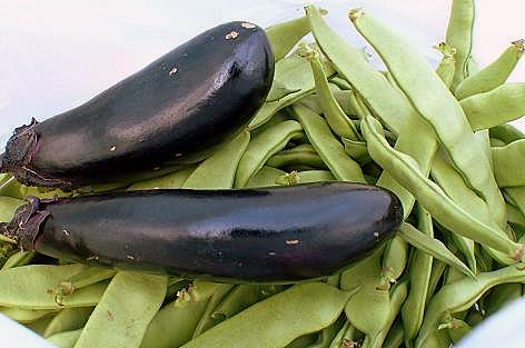 ナスとモロッコ豆♪